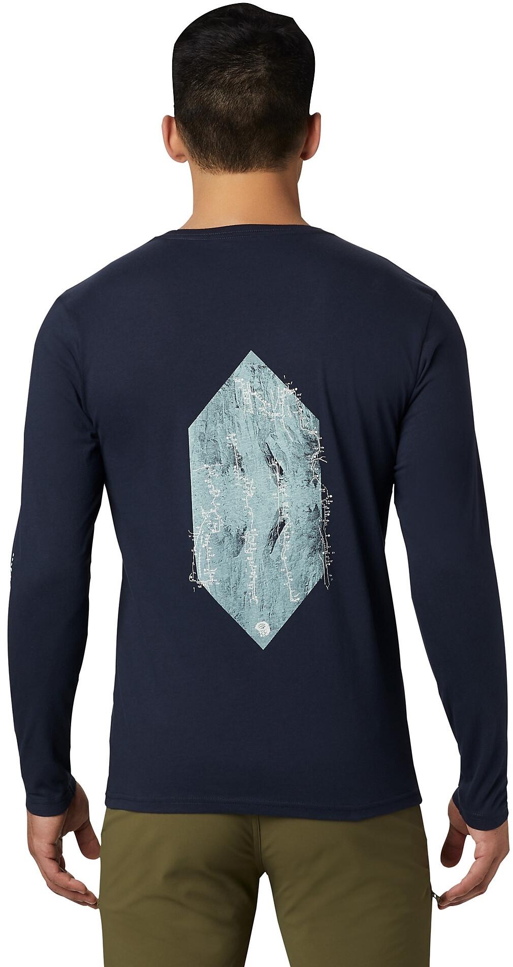 Mountain Hardwear Vertical Oriented Maglietta a maniche lunghe Uomo, dark zinc su Addnature CRm9f